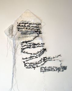 'a letter' by maria wigley all rights reserved embroidery textiles poetry… Embroidery Works, Embroidery Letters, Gcse Art, Fabric Manipulation, Mark Making, Textile Artists, Fabric Art, Word Art, Fiber Art