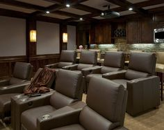 Spaces Theatre Room Sconces Design, Pictures, Remodel, Decor and Ideas - page 8
