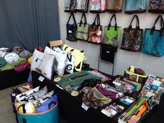 We:Re bags and life style products made of recycled materials like tents.