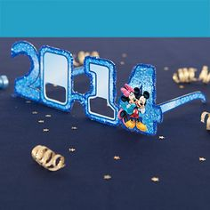 2014 Mickey & Minnie's New Year Celebration Glasses | Spoonful