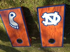 UNC cornhole boards.   Contact jason@richmondcustomcornhole.com for your custom set.
