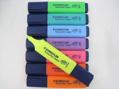These Staedtler highlighters dont smear inkjet print, and come in a variety of colors. Make Lips Bigger, Best Highlighter, School Supplies Organization, Surfer, Bff Quotes, My Journal, School Backpacks, Art Therapy, Art Supplies