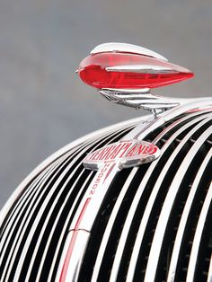 You don't see them on cars anymore. But at one time a car was not complete without a hood ornament.This one from a Hudson Terraplane is my 'All Time' favourite. Retro Cars, Vintage Cars, Antique Cars, Hudson Terraplane, Car Bonnet, Car Hood Ornaments, Car Badges, Car Logos, Automotive Design