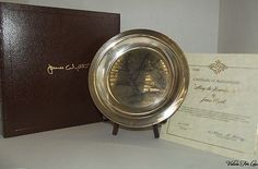 """Sterling Silver Plate, """"Along the Brandywine"""" by James Wyeth Collector Plate"""
