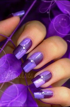 Perfect Purple~ from 27 Nail Art Ideas And Nail Designs Loading. Perfect Purple~ from 27 Nail Art Ideas And Nail Designs Nail Art Violet, Purple Nail Art, Colorful Nails, Fabulous Nails, Gorgeous Nails, Pretty Nails, Fancy Nails, Love Nails, My Nails
