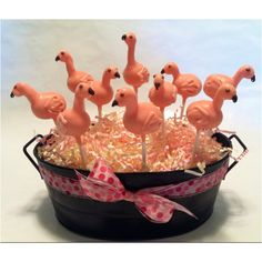 Flamingo Party / A flock of pink flamingo cake pops...Karen make these too please...lol