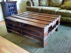 Rustic reclaimed wood pallet coffee table by ReclaimedWoodDesigns, $395.00