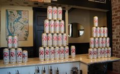 Rainier beers ready to be consumed by Edmonds Uplift Society members. (David Carlos photo)