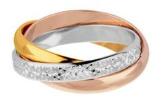 DID YOU KNOW: Rose gold is made when copper is alloyed with yellow gold so that a gorgeous rosy red tint appears in the finished gold. Rose gold is currently very fashionable and became fashionable around the turn of the 19th century... particularly in Russia. Traditional Russian wedding rings are made up of three elegant interlocked rings of white, yellow and rose gold. These rings are believed to represent the Holy Trinity and are still very popular today.