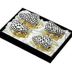 Speckled Marmoreus napkin rings