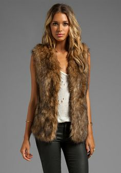 Lovers Friends Vixen Vest in Faux Fur