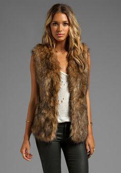 LOVERS + FRIENDS Vixen Vest in Faux Fur at Revolve Clothing