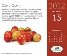 November 15, 2012 Camu Camu
