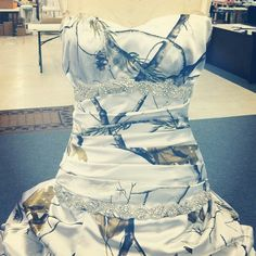 Love this camo wedding dress.