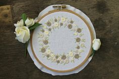 Looking for your next project? You're going to love Embroidery pattern floral circle by designer LaMariacha.