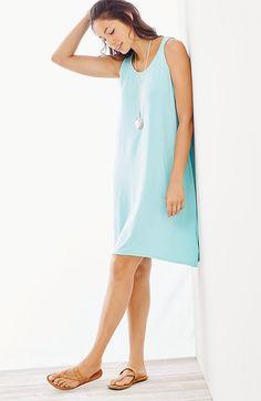 dipped-hem tank dress