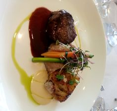 Duet of Filet Mignon and Halibut with an Island Root Mash @ La Concha Resort in Puerto Rico!