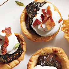 Holiday Finger Food Appetizers: Bacon-Fig Tassies