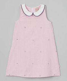 This Sophie & Sam Pink Seersucker Sailboat Dress - Toddler & Girls by Sophie & Sam is perfect! #zulilyfinds