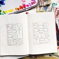 Bullet journal motivational drawing, bullet journal drawing idea, bullet journal lettering idea. | @coffeescribblesco_