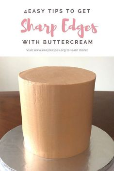 This tutorial show you easy ways to get sharp edges with buttercream. Wilton Cakes, Fondant Cakes, Cupcake Cakes, Cupcakes, Fondant Rose, Fondant Baby, Fondant Flowers, Icing Flowers, Fondant Figures