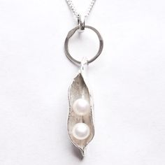 Twins Necklace - Two pearls in a pod necklace from www.twinsgiftcompany.co.uk