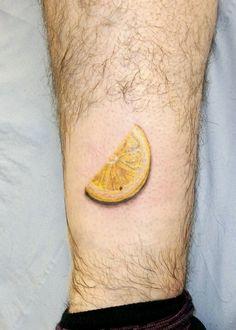 Slice of lemon tattoo @Aces High Tattoo Studio Hull