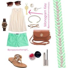 Preppy Girls Wear Pearls & Monograms