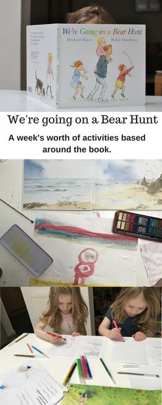 A week of activities on the theme of the book we're going on a bear hunt for children aged years old. Great for pre-schoolers, EYFS and homeschoolers Eyfs Activities, Nursery Activities, Activities For Kids, Early Years Topics, Nursery Stories, Book Study, Preschool Science, Camping Theme, Books For Boys