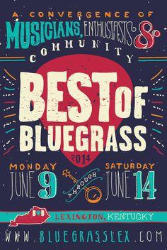 bluegrass poster design - Google Search