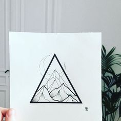 Drawing Tattoo Paper Triangle Stippling Art Illustration Design Photo by I L Moon Drawing, Drawing Artist, Sketch Drawing, Dreieckiges Tattoos, Tattoo Drawings, Tattoo Pics, Landscape Tattoo, Landscape Drawings, Triangle Drawing