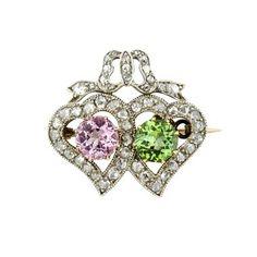 Bentley & Skinner Victorian heart brooch