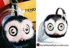 Buy Kylie Jenner's Fendi Fur Bag Bug Keychain, here!