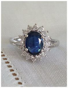 A Vintage Natural Blue Sapphire and by RomanceVintageJewels, $395.00