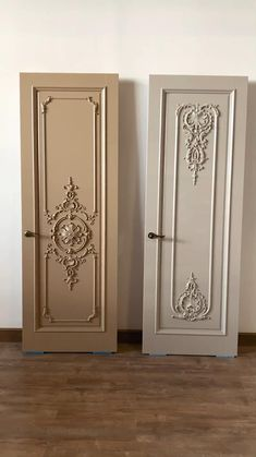 Each door from the Stavros collection is unique and will emphasize the individuality of your interior. BRUSSELS and BERGAMO are ideal for neoclassical projects. The doors produced by the Stavros factory provide status that will emphasize your wealth and refined taste of the owner. We will take into account all your wishes for design, size and finish. Pooja Room Door Design, Interior Design Boards, Home Room Design, House Design, Interior Doors, Wooden Front Door Design, Wooden Front Doors, Main Door Design, Modern Entrance Door