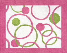 Amazon.com: Circles Pink and Green Accent Floor Rug by Sweet Jojo Designs: Baby