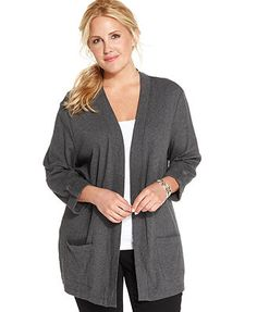 Bobeau One-Button Fleece Cardigan (Plus Size) | My Style ...