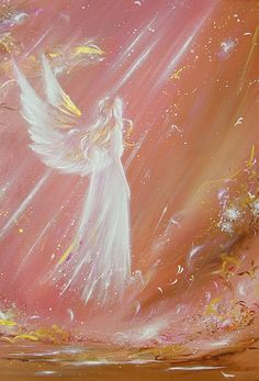 """Limited angel art photo """"met an angel""""  , modern angel painting, artwork,ideal also for picture frame, gift,spiritual,magic,mystic"""