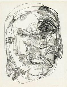svartna:    ekkolalia:    hexentexte:    amare-habeo:    Unica Zürn - Dark Spring: Untitled, 1966 (ink on paper)