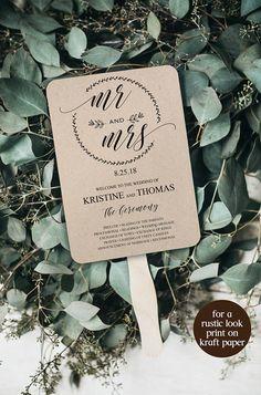Wedding Program Template Wedding Program Template Printable #weddingfans #weddingprograms #diywedding