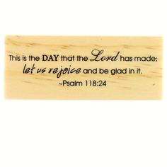Biblical Scripture Psalms Wood Stamp by Recollections
