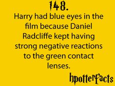 Ha! for all you people out there who swear that Harry had different colored eyes than Lily in the movies...read the book.