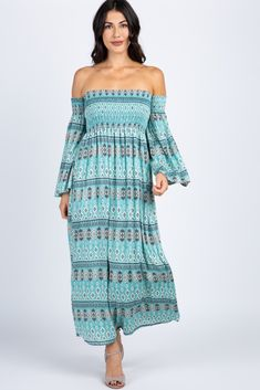 This little beauty is going to be your new essential this season. Featuring a smocked bust and a chic boho sleeve gives this maxi dress a stylish look. Pair this dress with a neutral sandals and a choker for a trendy look. Off The Shoulder, Cold Shoulder, Neutral Sandals, Boho Chic, Bohemian, Maternity Maxi, Kaftan, Smocking, Blush Pink