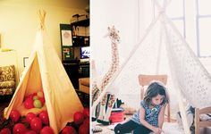 Christmas Teepee for the Kids | 51 Hopelessly Adorable DIY Christmas Decorations