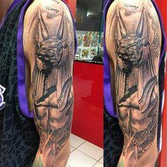 Anubis Egyptian God Tattoo
