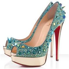 Christian Louboutin  Very Mix 140mm Peep Toe Pumps Green
