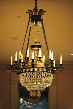 Exquisite Winterthur Crystal Chandelier  (What can we say, Heritage Metalworks is proud to be a licensee of Winterthur products!)
