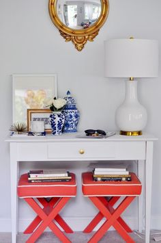 a perfectly colorful entryway