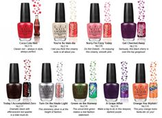 OPI NAIL POLISH - COCA-COLA COMPANY COLLECTION - CLEVER COLOURS