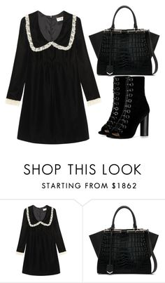 """""""Untitled #3495"""" by evalentina92 ❤ liked on Polyvore featuring Yves Saint Laurent, Fendi and Barbara Bui"""